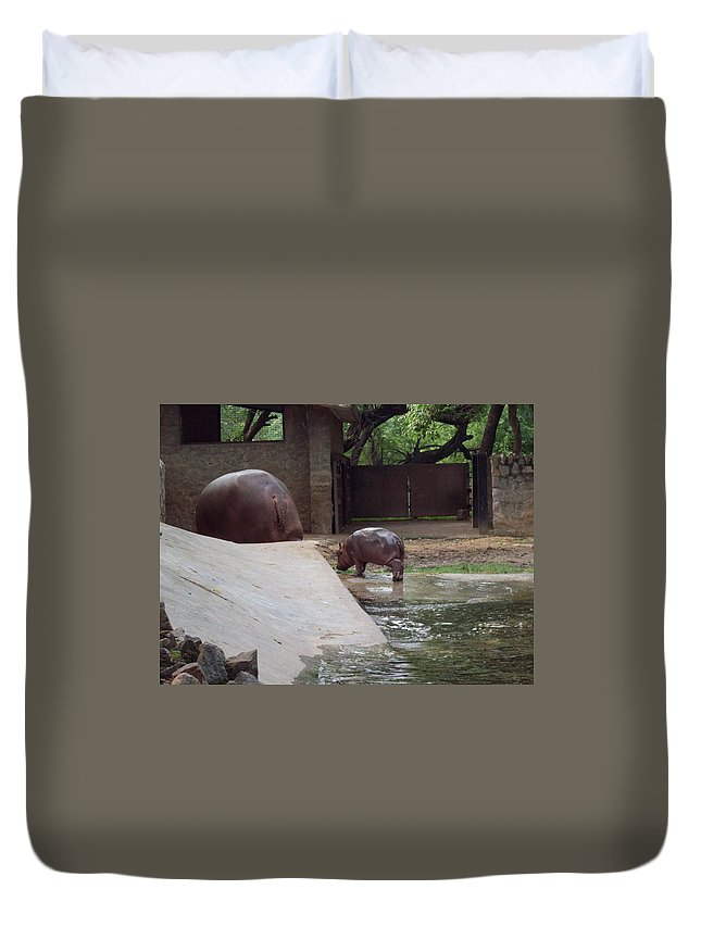 Mother And Child Duvet Cover featuring the photograph Mother And Child by Parveen Shrivastava