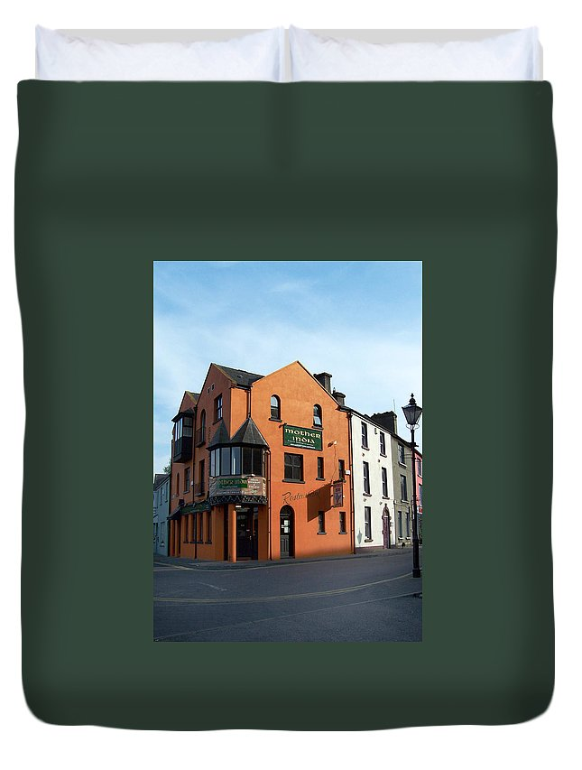 Ireland Duvet Cover featuring the photograph Mother India Restaurant Athlone Ireland by Teresa Mucha