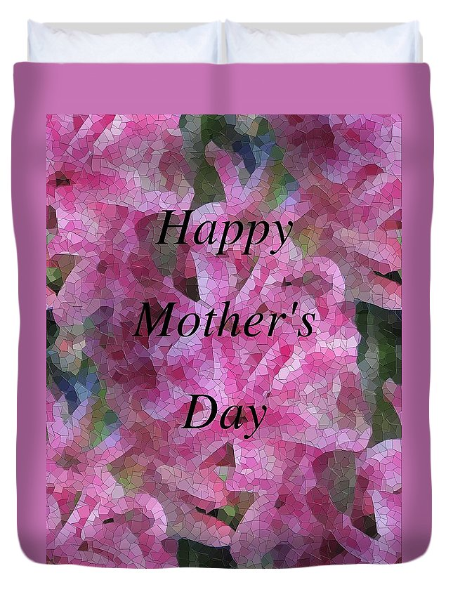 Flowers Duvet Cover featuring the digital art Mother's Day Pretty In Pink by Tim Allen