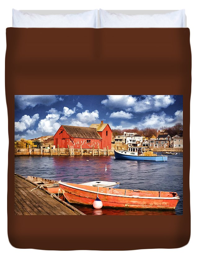 Motif Number One Duvet Cover featuring the photograph Motif Number One by Jaki Miller