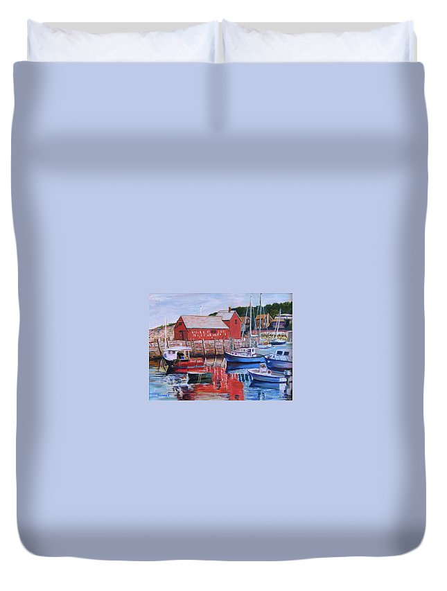 Rockport Duvet Cover featuring the painting Motif Number One by Richard Nowak