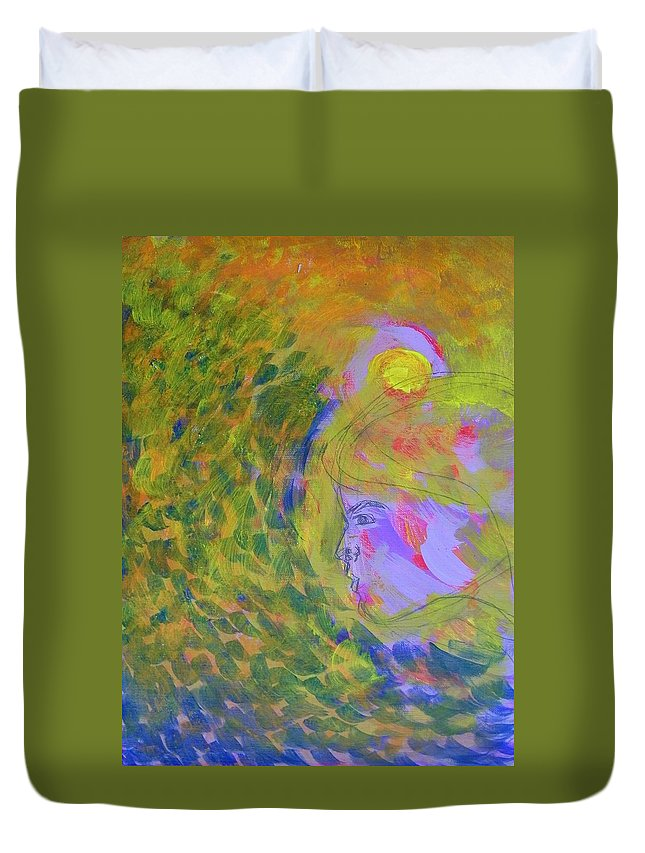 Abstract Duvet Cover featuring the painting Motion by Judith Redman