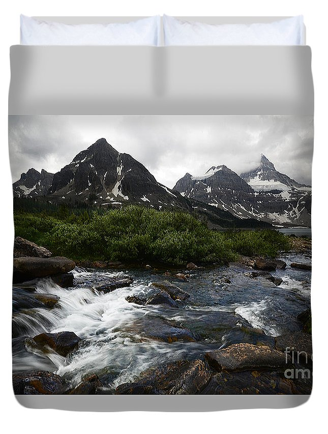 Mount Assiniboine Duvet Cover featuring the photograph Mount Assiniboine Canada 15 by Bob Christopher