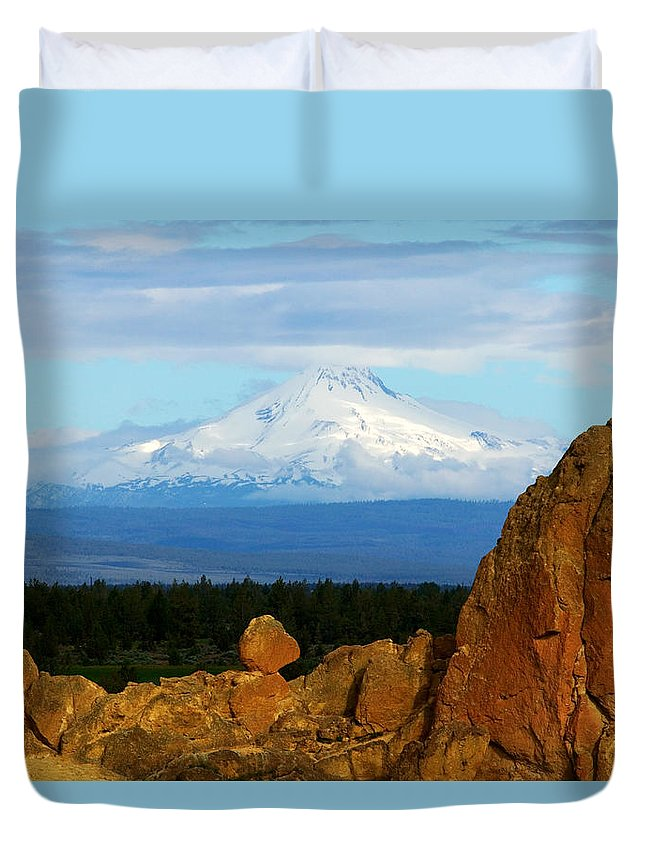 Mount Jefferson Duvet Cover featuring the photograph Mount Jefferson by Randall Ingalls