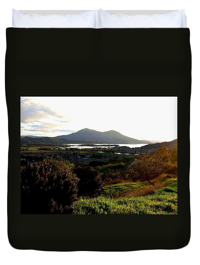 Mount Konocti Duvet Cover featuring the photograph Mount Konocti by Will Borden