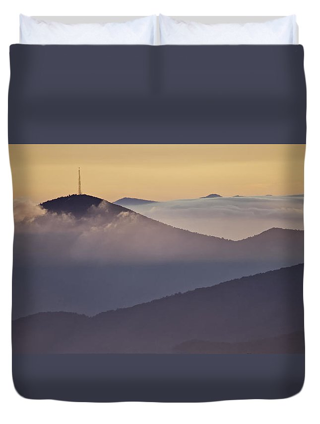 Parkway Duvet Cover featuring the photograph Mount Pisgah In Morning Light - Blue Ridge Mountains by Rob Travis