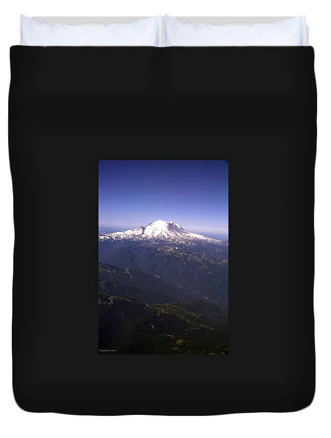 Mount Rainier Duvet Cover featuring the photograph Mount Rainier Washington State by Merja Waters
