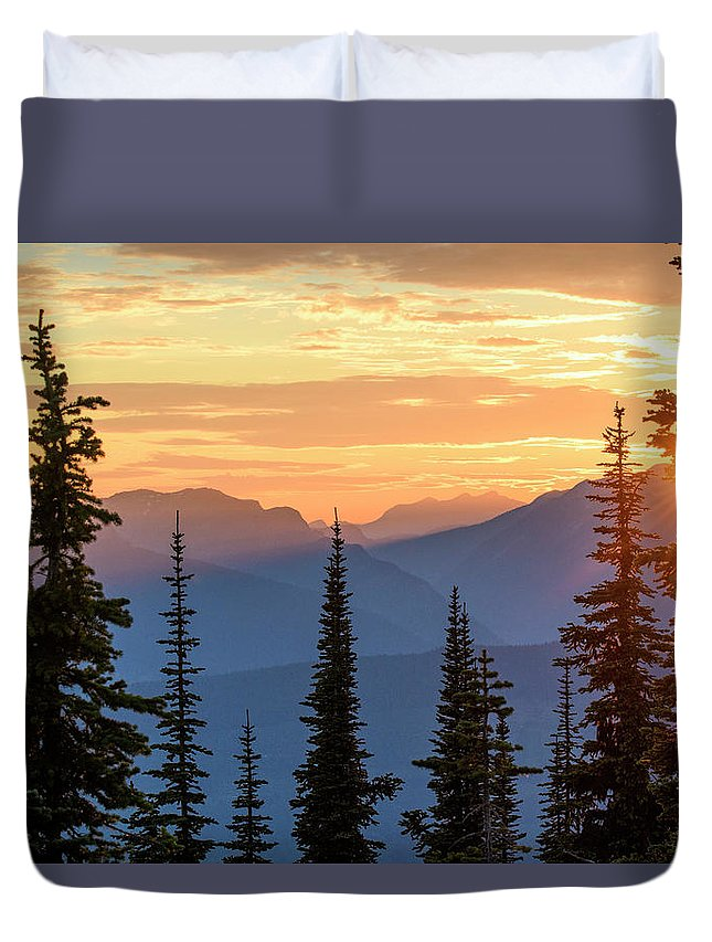 North America Duvet Cover featuring the photograph Mount Revelstoke by Christian Heeb