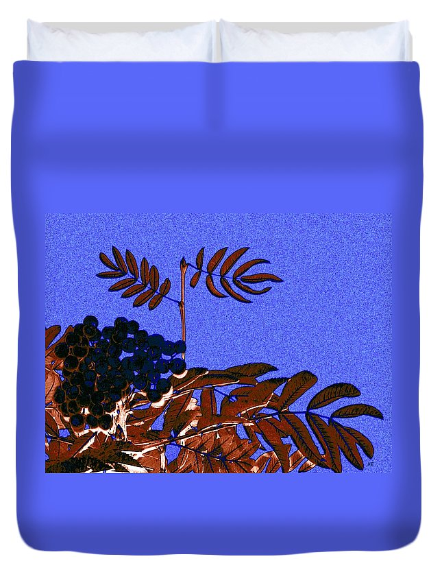 Abstract Duvet Cover featuring the digital art Mountain Ash Design by Will Borden