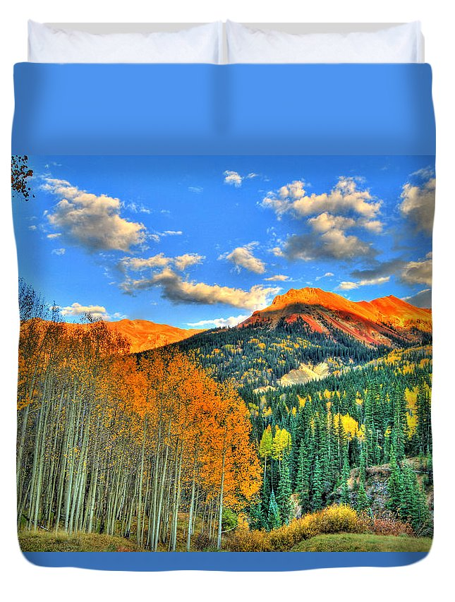 Mountain Duvet Cover featuring the photograph Mountain Beauty Of Fall by Scott Mahon