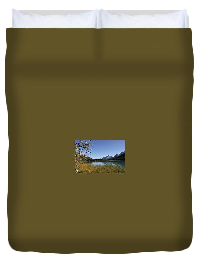 Mountain Duvet Cover featuring the photograph Mountain Bliss by Janet Bembridge