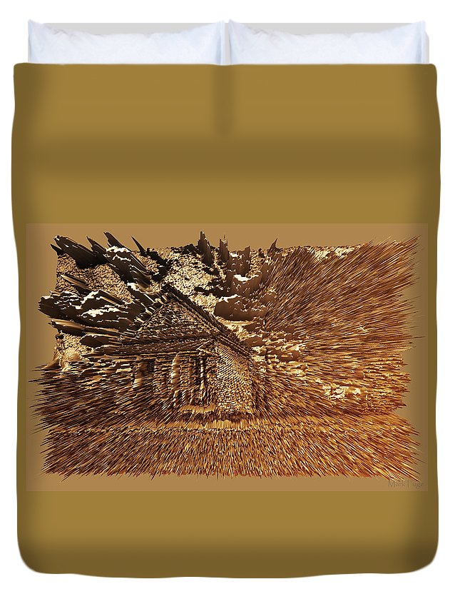Alabama Duvet Cover featuring the photograph Mountain Cabin by Mark Fuge