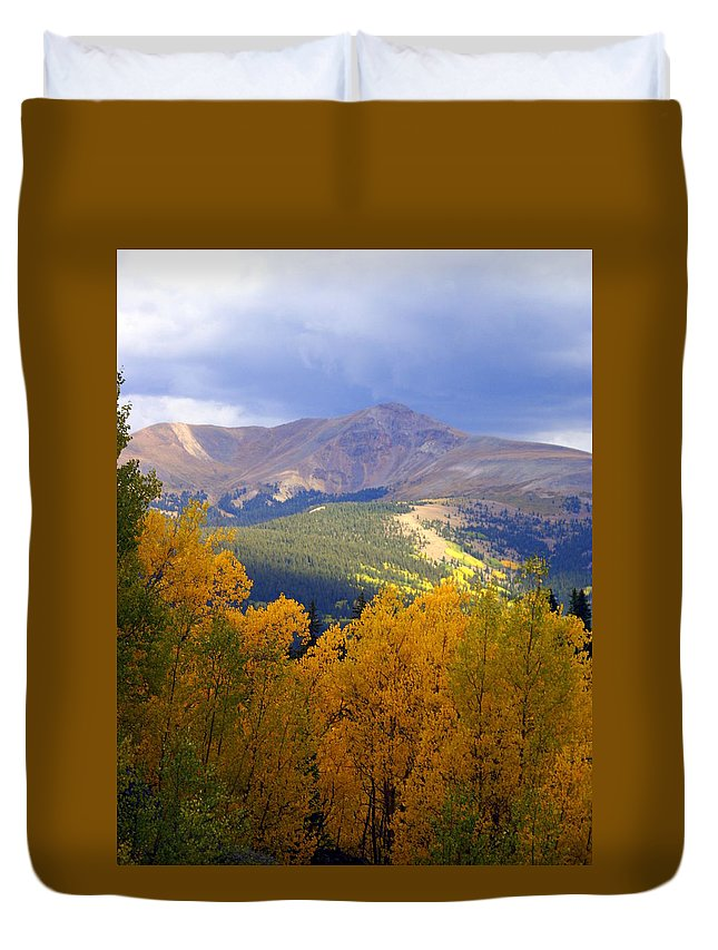 Colorado Duvet Cover featuring the photograph Mountain Fall by Marty Koch