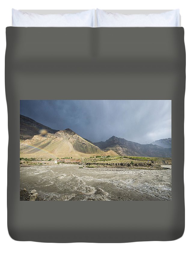 India Duvet Cover featuring the photograph Time For Rain by Helena Kon