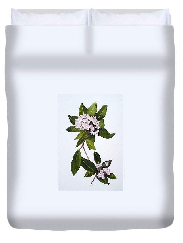 Mountain Laurel Duvet Cover featuring the painting Mountain Laurel by Jean Blackmer