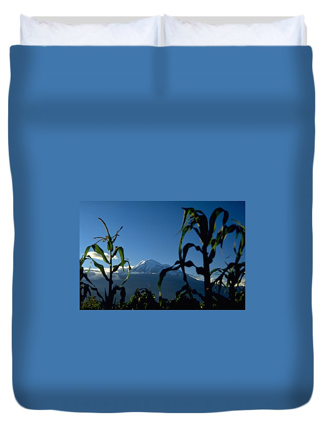 Mountain Duvet Cover featuring the photograph Mountain by Michael Mogensen