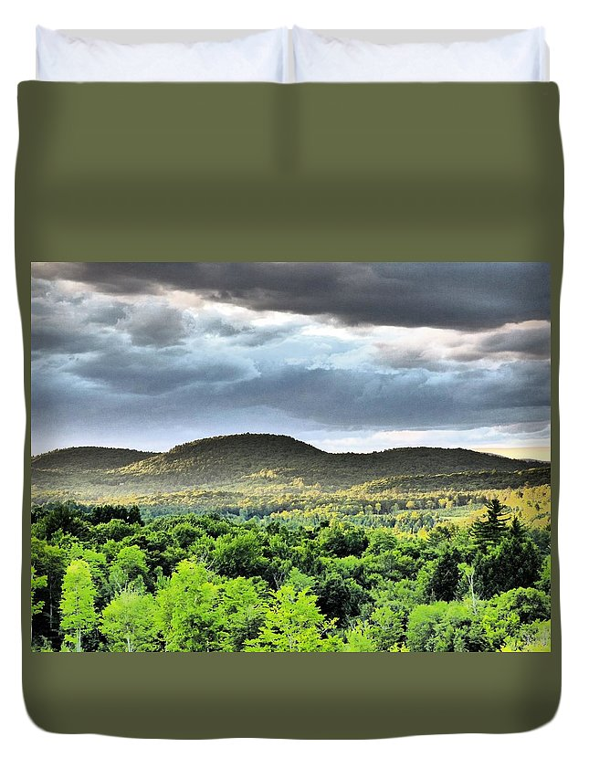 Mountains Maine Storm Duvet Cover featuring the photograph Mountain Range I Art by Scott Welton