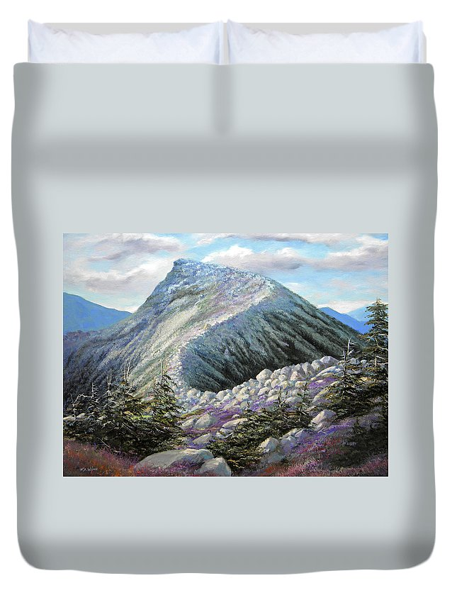 Landscape Duvet Cover featuring the painting Mountain Ridge by Frank Wilson