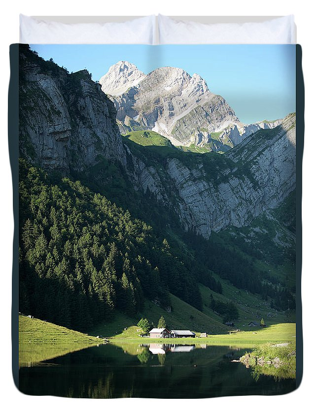 Mountains Duvet Cover featuring the photograph Mountain Sight by Jana Behr