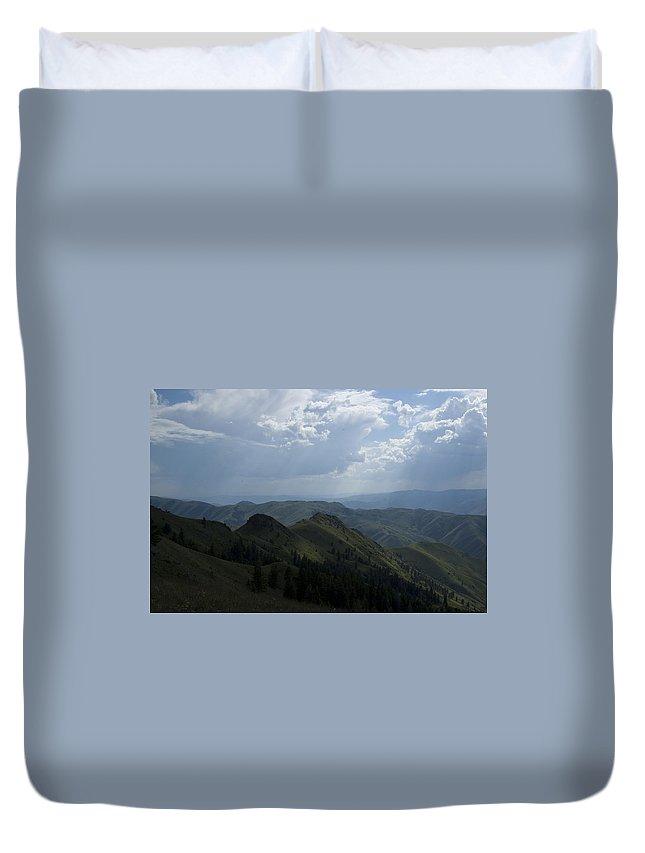Mountain Duvet Cover featuring the photograph Mountain Top 2 by Sara Stevenson