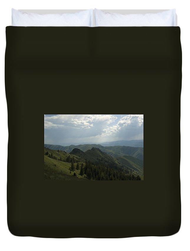Mountain Duvet Cover featuring the photograph Mountain Top 5 by Sara Stevenson