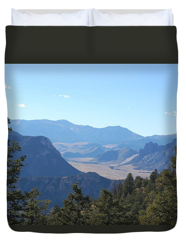 Mountains Duvet Cover featuring the photograph Mountain View On The Chief Joseph Highway by Sadie Dimsey