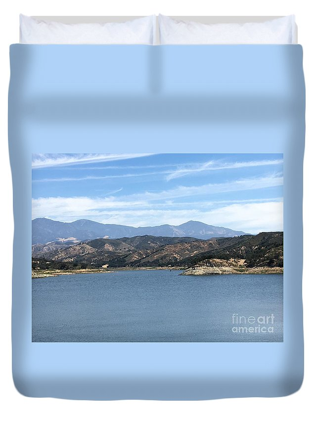Mountain Duvet Cover featuring the photograph Mountainous View by Jane Stanley