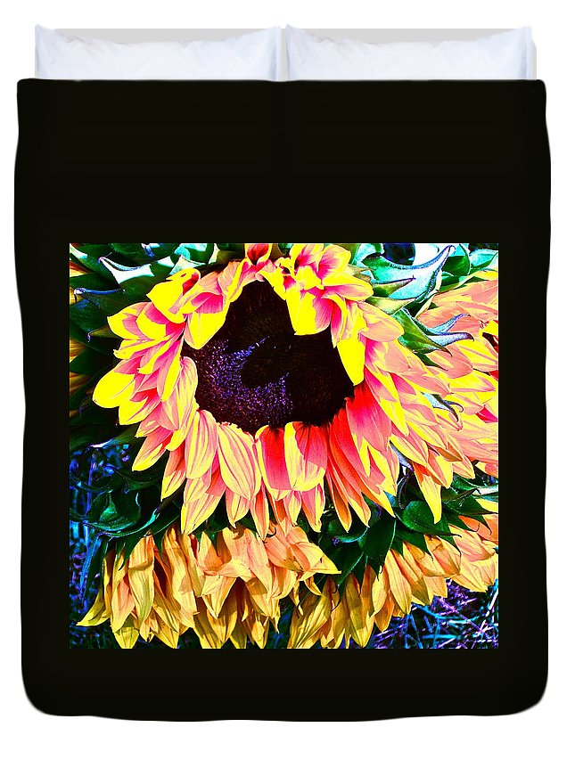 Photograph Duvet Cover featuring the photograph Mourning by Gwyn Newcombe