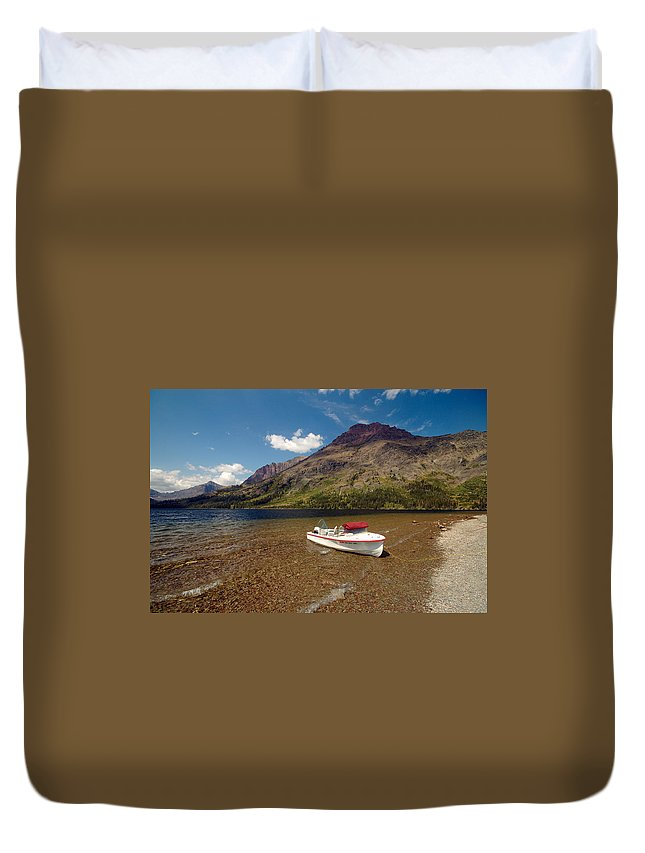 Moutains Duvet Cover featuring the photograph Moutain Lake by Sebastian Musial