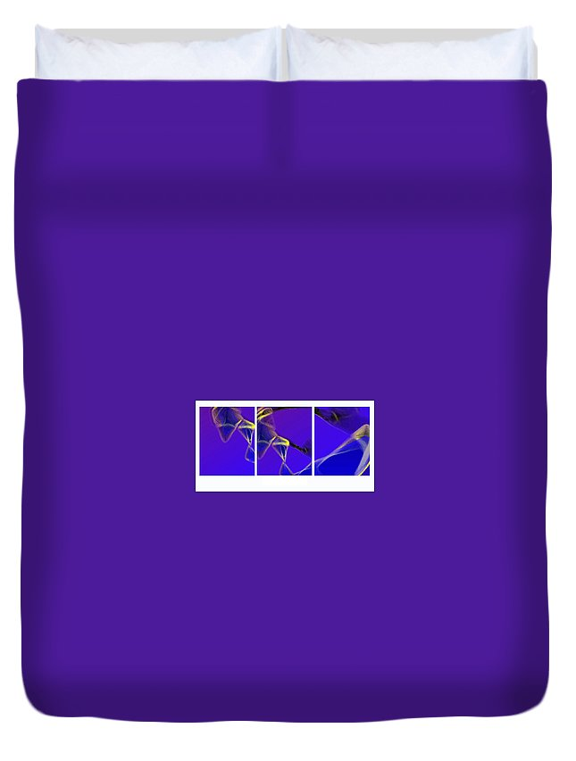 Abstract Duvet Cover featuring the digital art Movement In Blue by Steve Karol