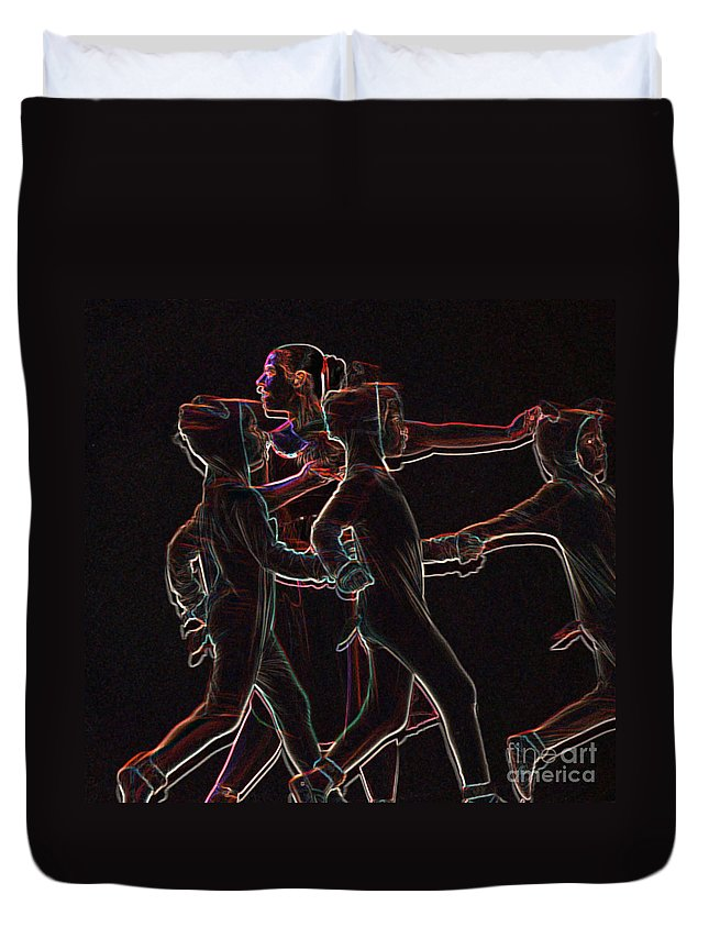 Ballet Duvet Cover featuring the digital art Movement by Reb Frost