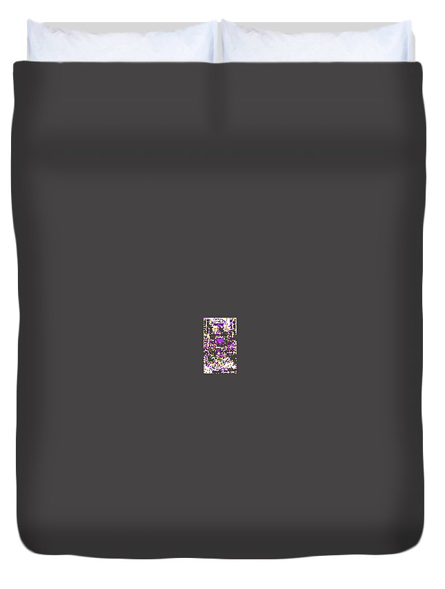 Moveonart! Digital Gallery Duvet Cover featuring the digital art Moveonart Abstract Visual Therapy With Purple Heart by Jacob Kanduch