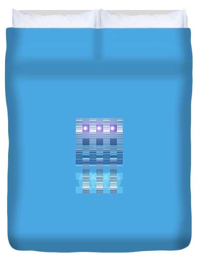Moveonart! Digital Gallery Duvet Cover featuring the digital art Moveonart Aqua Program Four by Jacob Kanduch