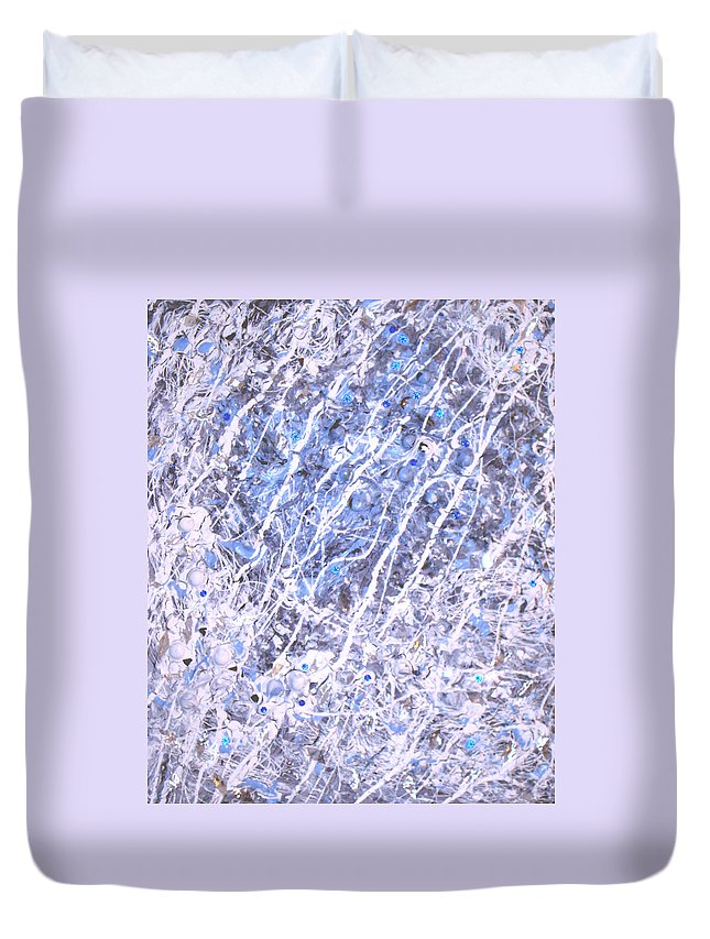 Moveonart! Digital Gallery Duvet Cover featuring the digital art Moveonart Blue Cool Purifying Soul by Jacob Kanduch