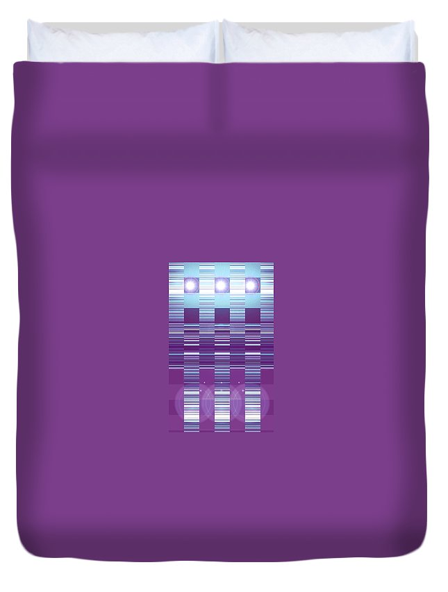 Moveonart! Digital Gallery Duvet Cover featuring the digital art Moveonart Color Duo Program Three by Jacob Kanduch