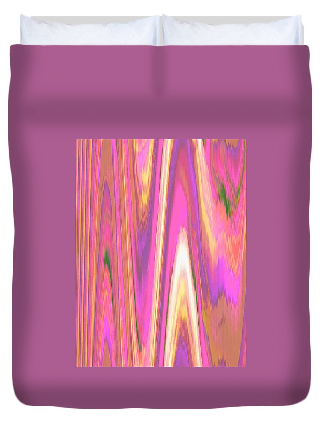 Moveonart! Digital Gallery Duvet Cover featuring the digital art Moveonart Color Mood Waves One by Jacob Kanduch