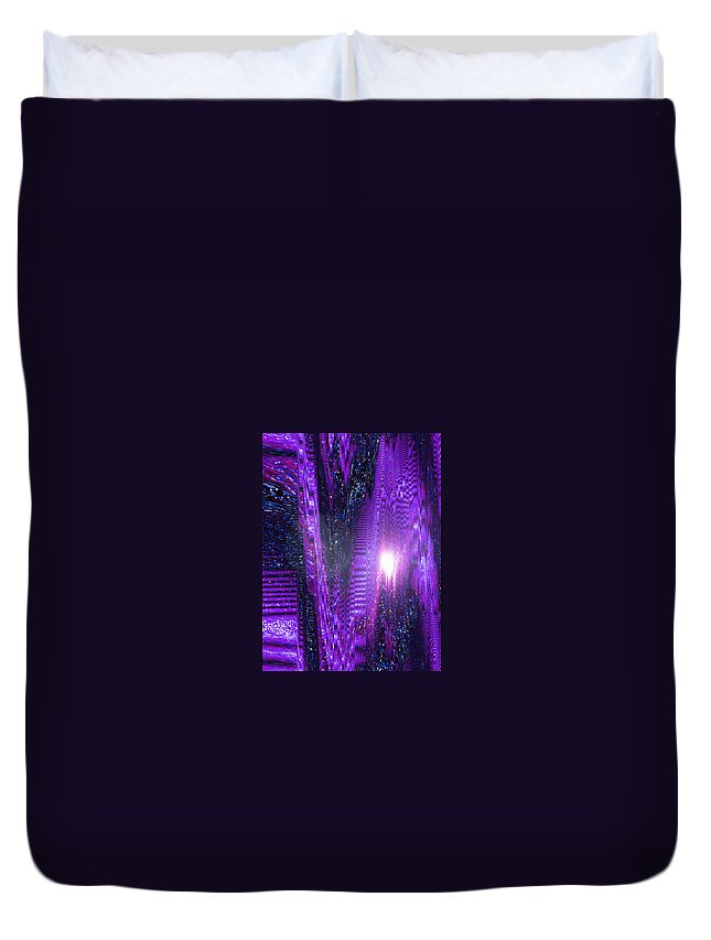 Moveonart! Digital Gallery Duvet Cover featuring the digital art Moveonart Dont Worry About Tomorrow by Jacob Kanduch