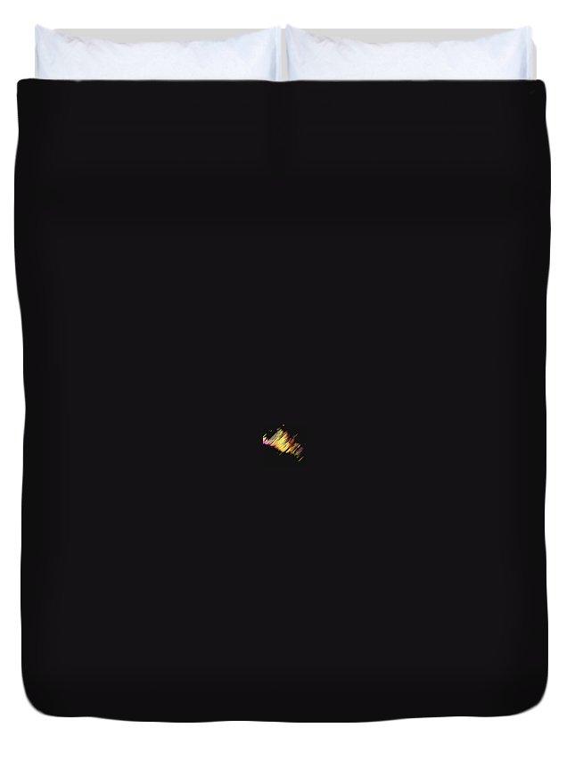 Moveonart! Digital Gallery Duvet Cover featuring the digital art Moveonart Dream Light At Night by Jacob Kanduch