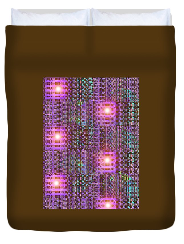 Moveonart! Digital Gallery Duvet Cover featuring the digital art Moveonart Eye And Light Engagement One by Jacob Kanduch