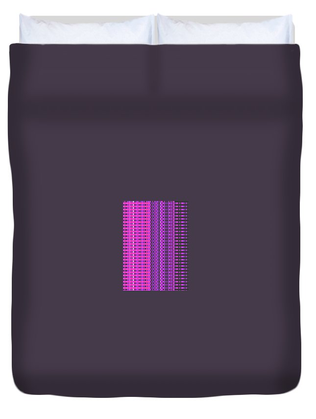 Moveonart! Digital Gallery Duvet Cover featuring the digital art Moveonart Eye Scrapers Pink by Jacob Kanduch