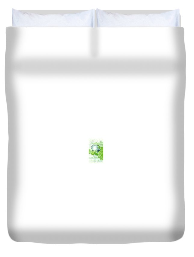 Moveonart! Digital Gallery Duvet Cover featuring the digital art Moveonart Going Green Is Good by Jacob Kanduch