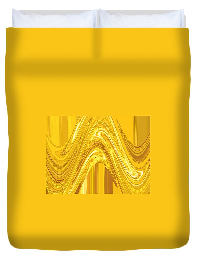 Moveonart Digital Gallery San Francisco California Lower Nob Hill Jacob Kane Kanduch Duvet Cover featuring the painting Moveonart Golden Light Wave by Jacob Kanduch