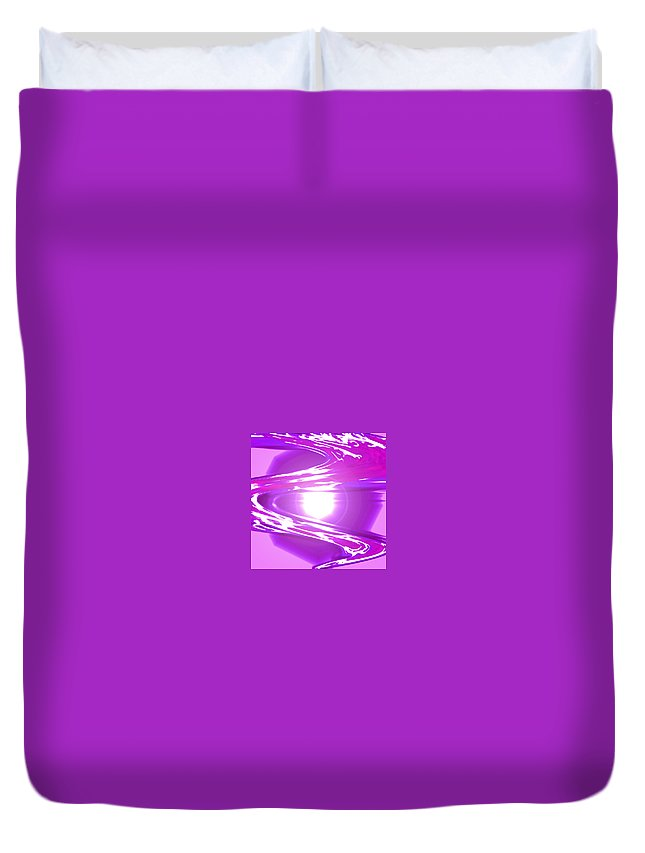 Moveonart! Digital Gallery Duvet Cover featuring the digital art Moveonart I Call Forth The Violet Wave by Jacob Kanduch
