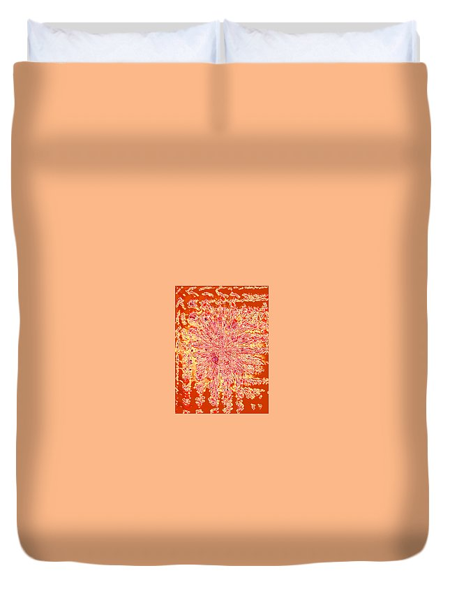 Moveonart! Digital Gallery Duvet Cover featuring the digital art Moveonart Intense Indian Fire Chant by Jacob Kanduch