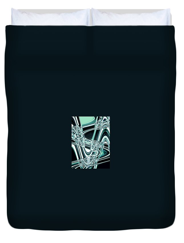 Moveonart! Digital Gallery Duvet Cover featuring the digital art Moveonart Intentionally Abstract Movement by Jacob Kanduch
