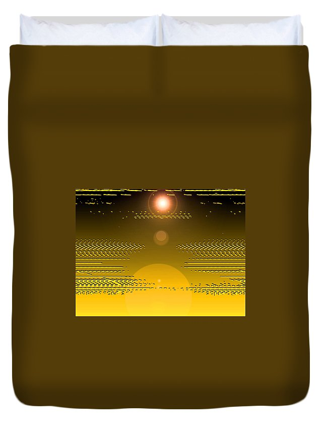 Moveonart! Digital Gallery Duvet Cover featuring the digital art Moveonart Light Rise In The Darkness by Jacob Kanduch