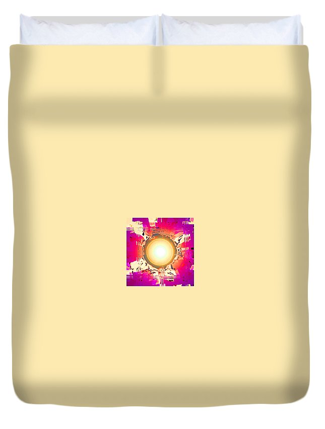 Moveonart! Digital Gallery Duvet Cover featuring the digital art Moveonart May This Gift Of Light Help You Along Lifes Way by Jacob Kanduch