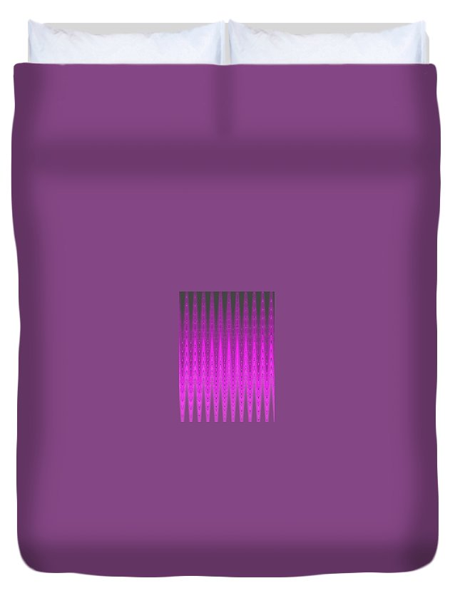 Moveonart! Digital Gallery Duvet Cover featuring the digital art Moveonart Mysterious Violet Curtain by Jacob Kanduch