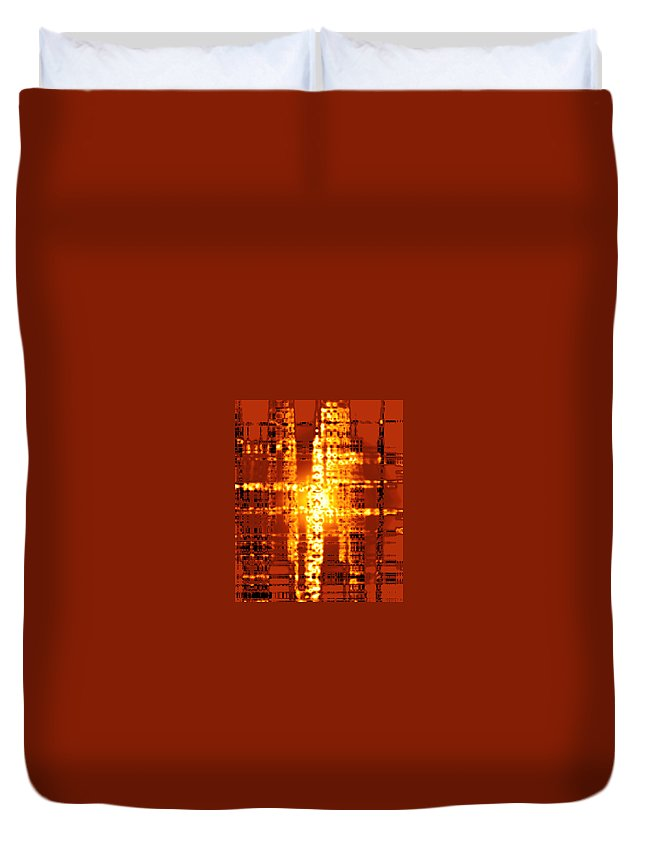 Moveonart Digital Gallery San Francisco California Lower Nob Hill Jacob Kane Kanduch Duvet Cover featuring the digital art Moveonart Nuclear Catastrophe 1 by Jacob Kanduch