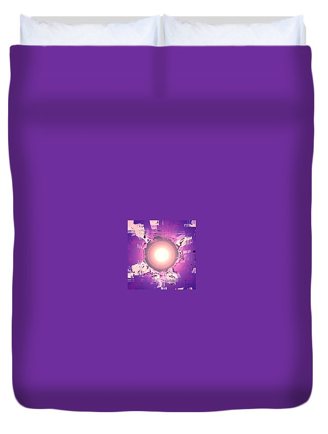 Moveonart! Digital Gallery Duvet Cover featuring the digital art Moveonart Oh Is That So  Violet by Jacob Kanduch